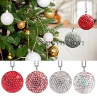 christmas tree hanging bauble ball for xmas christmas new year party home hanging drop ornament decorations crystal ball 2021