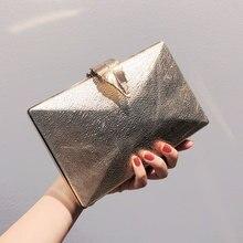Luxy Moon Women's Wedding Clutch Bag Gold Purse Ladies Handbag Party Purse for Bridal Metal Leaf Loc
