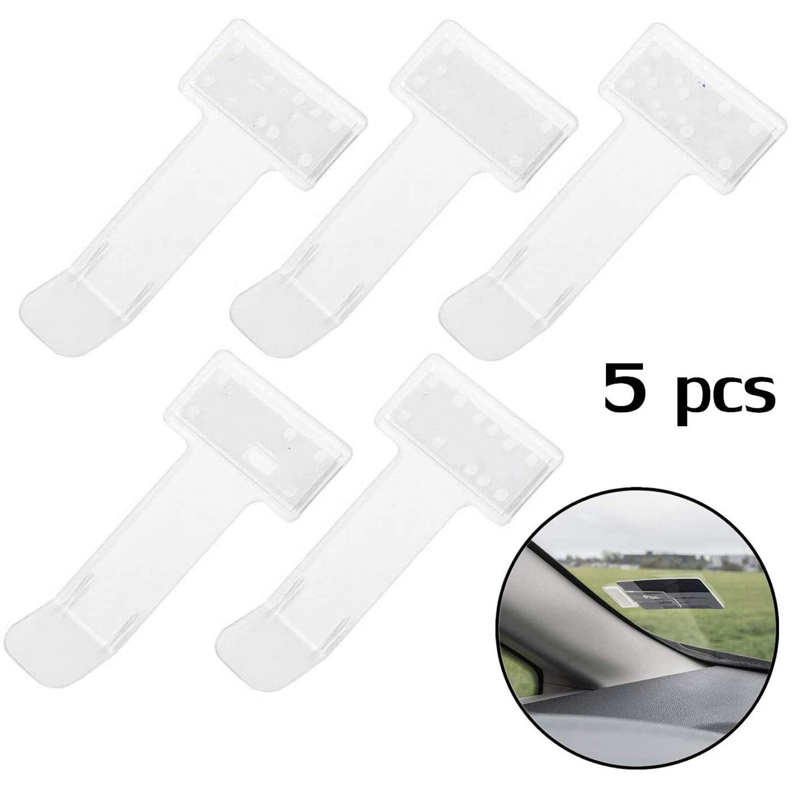 25# 5pcs Parking Ticket Clip Auto Fastener Card Bill Holder Organizer Windshield Stickers Car Ticket Holder Accessories
