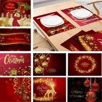 uk christmas placemats set of romantic new year fabric table mats decor xmas
