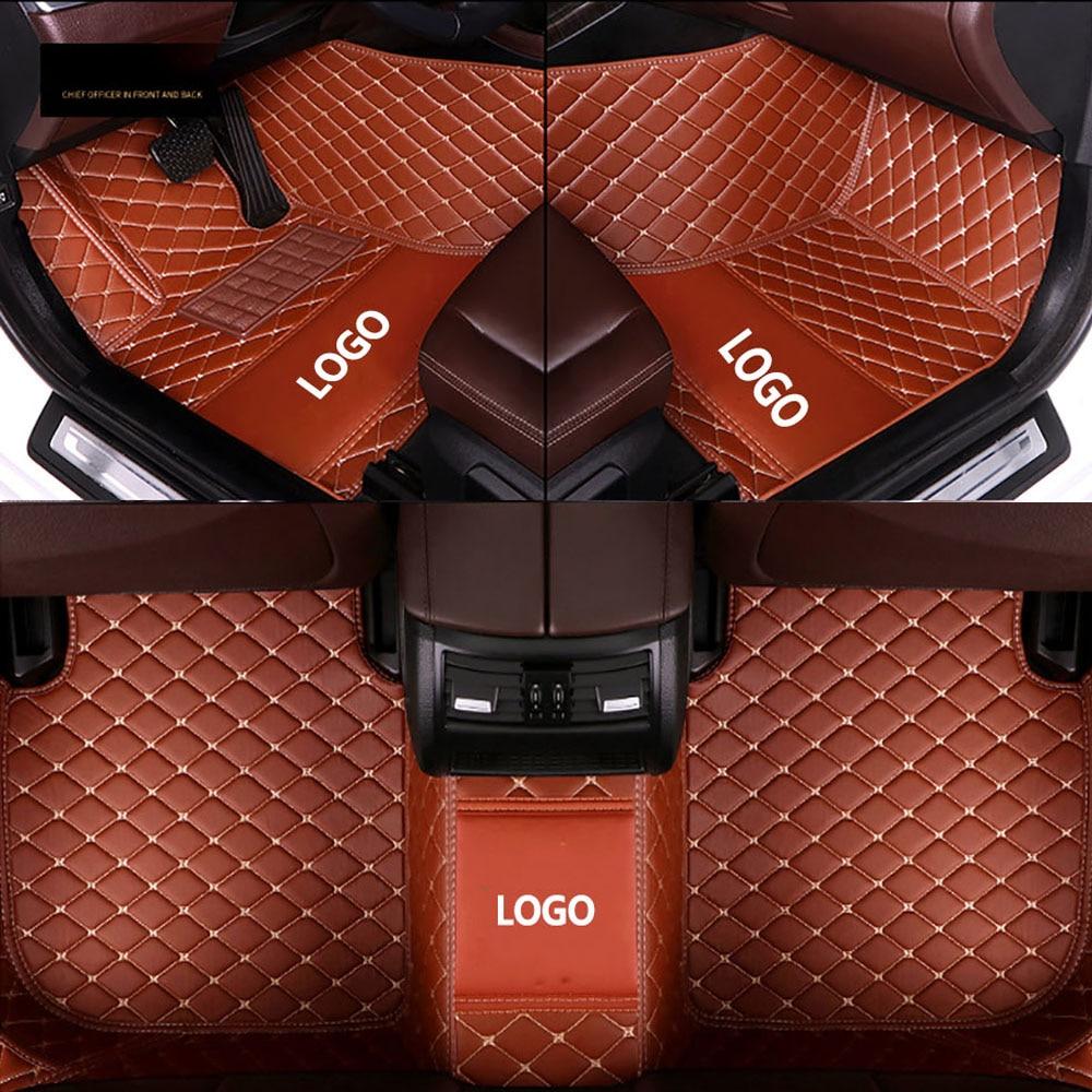 HeXinYan Custom LOGO Car Floor Mats for Mercedes Benz all models E C SLK G GLS GLC CLA ML GLK GLA GLE R A B CLK GL CLS S Class enlarge