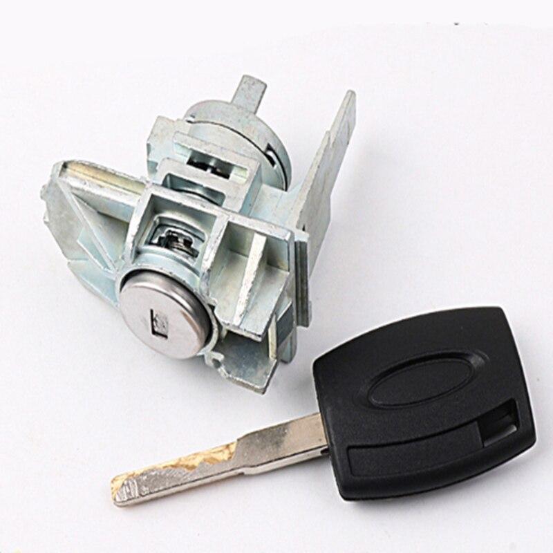 Новый Автомобильный ключ зажигания левый замок цилиндр полностью автомобильный Противоугонный цилиндр с 1 ключом для Ford Focus