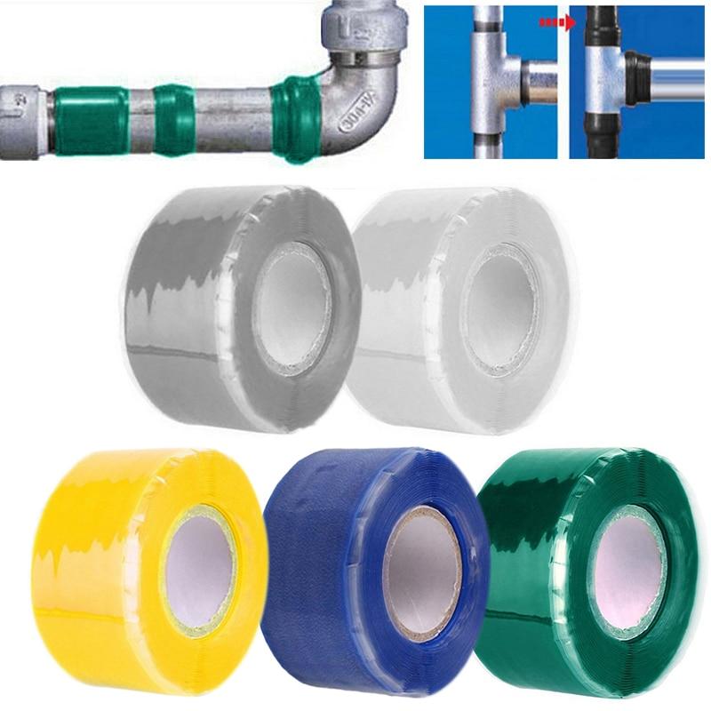 2,5 CM X 3M/1 rollo 1 Uds cinta autoadhesiva de alta presión eléctrica cinta de reparación de tuberías de agua de jardín cinta de silicona autoondulante