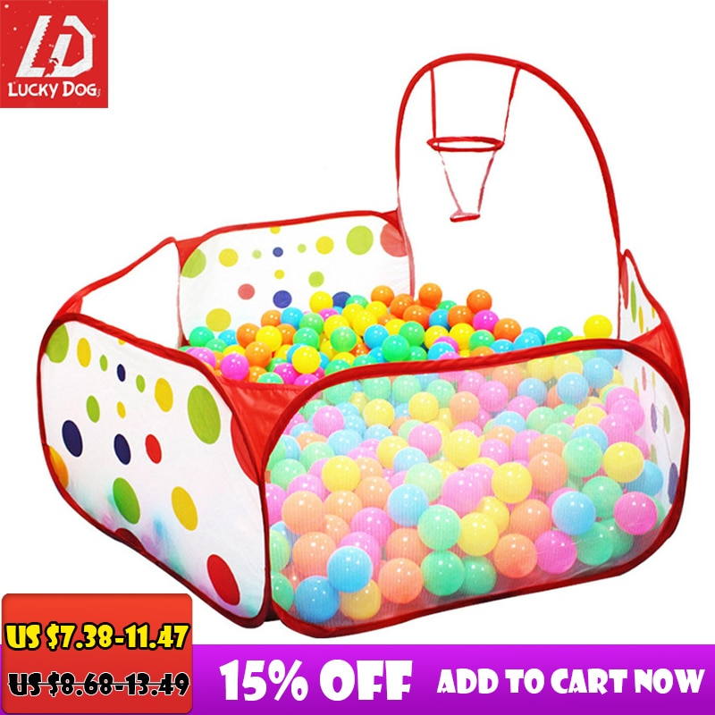 Ball Pool Pit With Basket Ocean Ball Playhouse Baby Playpen Tent Outdoor Toys For Children Foldable Ballenbak Gifts  Summer Part