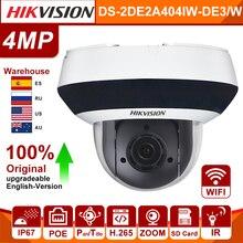 Hikvision PTZ caméra IP DS-2DE2A404IW-DE3/W 4MP 4X Zoom WIFI sans fil POE H.265 IK10 IR WDR DNR CCTV PTZ caméra Darkfighter