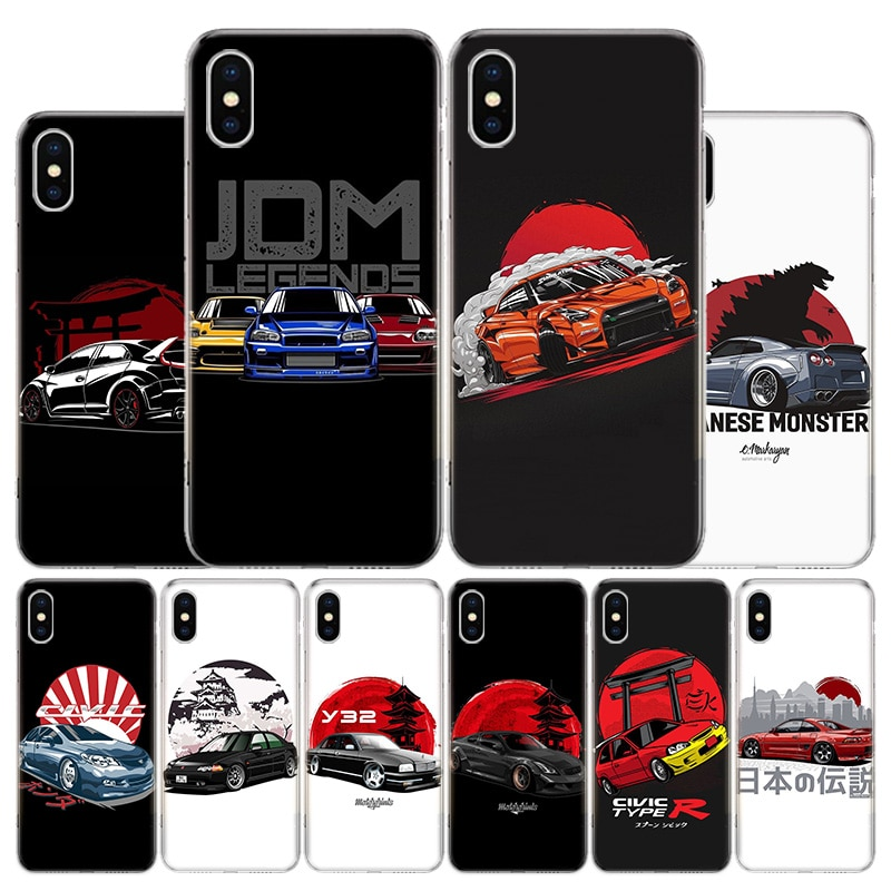 Cool Japan JDM Sports Car Cover Phone Case For Apple iphone 11 12 Pro XR X XS Max 7 8 6 6S Plus + 7G 6G 5 SE 2020 Coque Popular