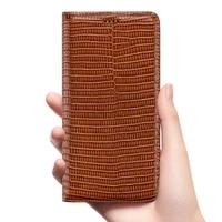lizard grain genuine leather flip case for sony xperia x xp xa xr xa1 xa2 xa3 1 5 8 10 ii 20 plus uitra phone cover cases wallet