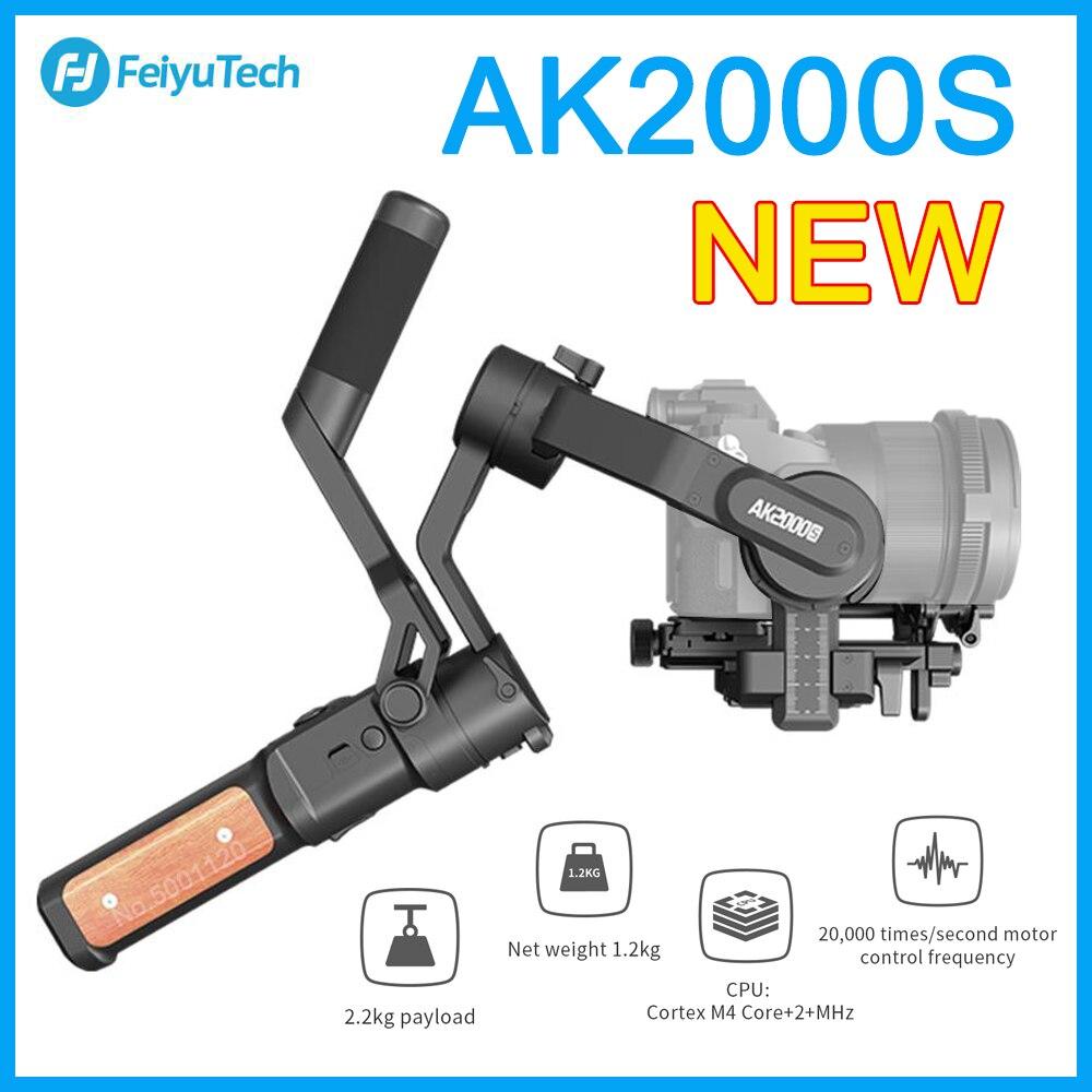 FeiyuTech-مثبت الكاميرا المحمولة AK2000S ، لكاميرا NIKON Canon Sony Video ، حمولة 2.2 كجم ، كاميرا DSLR بدون مرآة ، VS AK2000