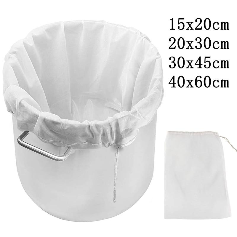 Beer Homebrew Filter Bag for Brewing Reusable Kitchen Food Filter Bags Strainer Fine Mesh Bag for Beer Nut Milk Juice Filters