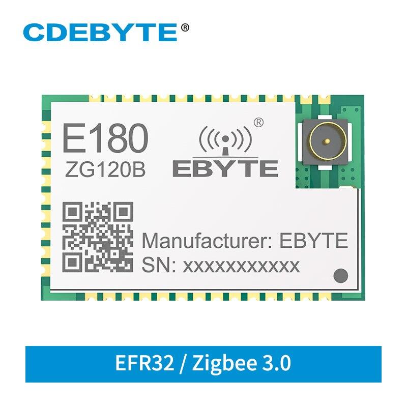 E180-ZG120B Cdebyte Zigbee 3.0 EFR32 2.4Ghz 20dBm Zigbee Draadloze Module 1.3Km Bereik Zha Zll Draadloze Zender Ontvanger
