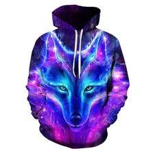 2019 Magic Kleur Galaxy Wolf Hoodie Hoodies Mannen Vrouwen Mode Lente Herfst Truien Sweatshirts Sweat Homme 3D Trainingspak