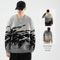 tuan autumnwinter new high quality mens abstract pattern pullovers mens casual large size pullovers knitted sweaters