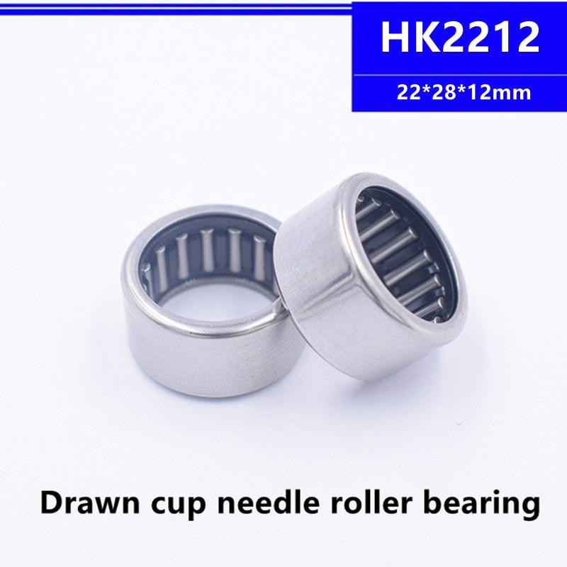 50 قطعة عالية الجودة HK2212 22x28x12 مللي متر تعادل كأس محبوس محمل ذو بكرات إبرية تحمل 22*28*12 مللي متر HK222812