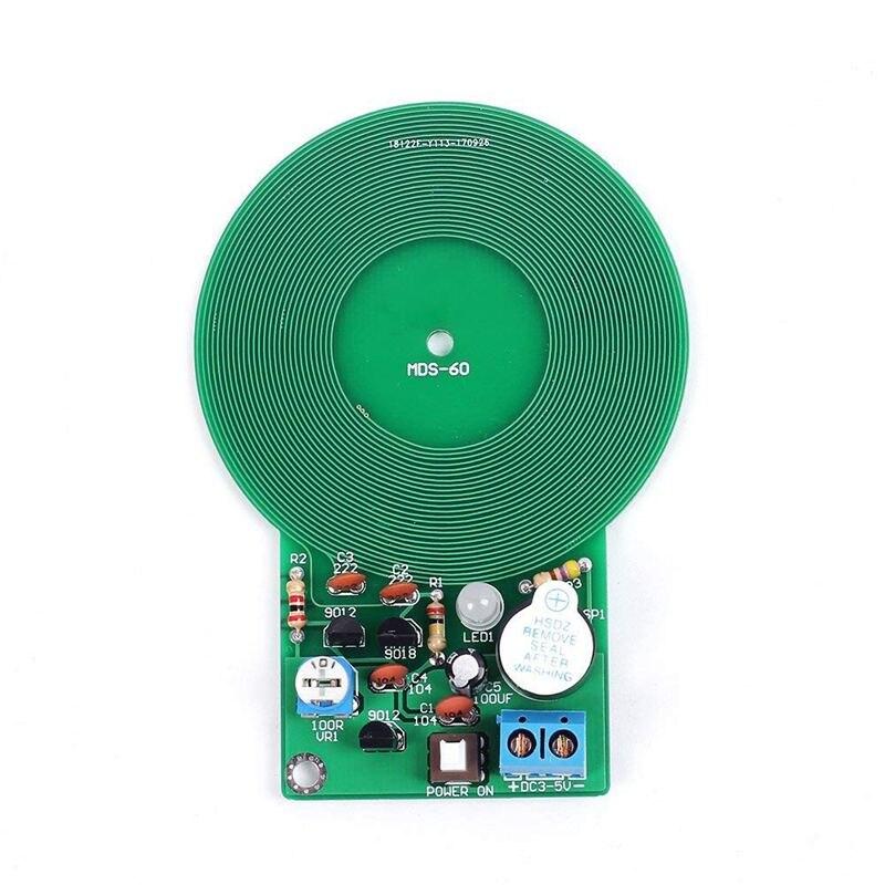 Icstation Detector de Metales simples de menos de 60mm, para montar Kit DIY, práctica de soldadura electrónica, zumbador con Sensor de Metal Arduino DC