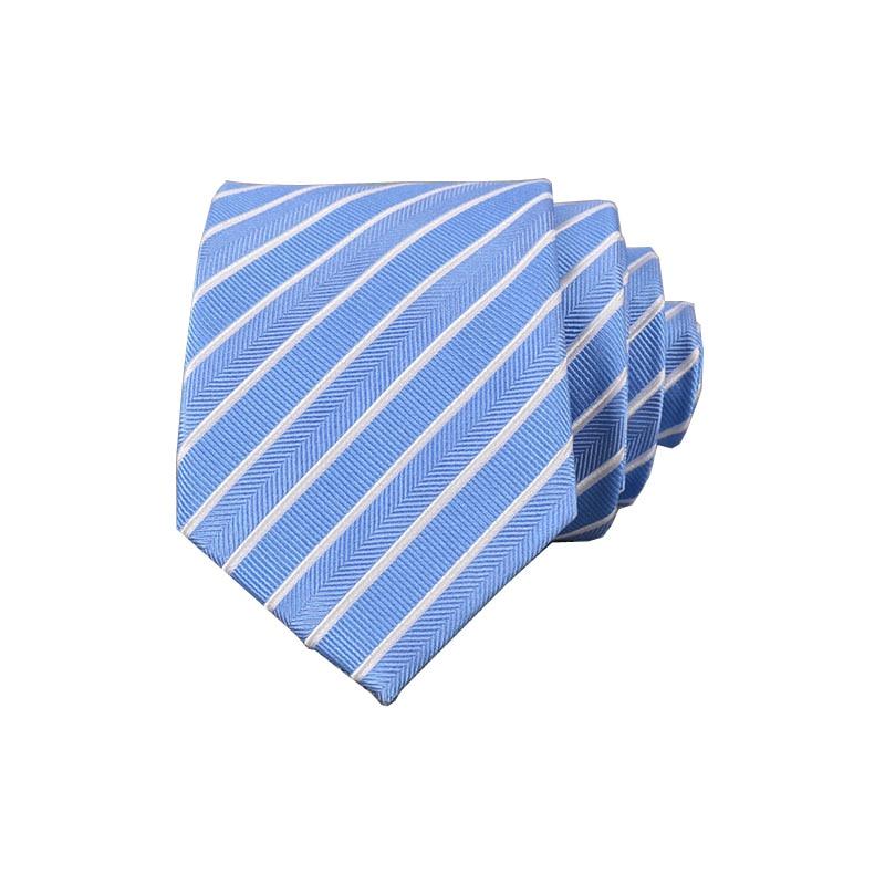 Spot Silk Striped Necktie 8cm Business Casual  Jacquard Formal