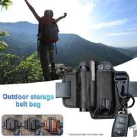 men multitool sheath edc pocket organizer with key holder belt and flashlight sheath multitool pouch for outdoor camping hiking