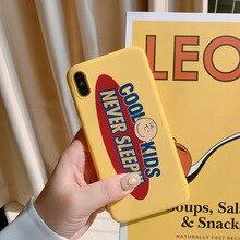 Dessin animé Charlie marron rétro lettres mignon étui de téléphone housse en silicone pour coque iPhone 7 Plus 8 6s Plus 11 Pro Max X XR xs max étui