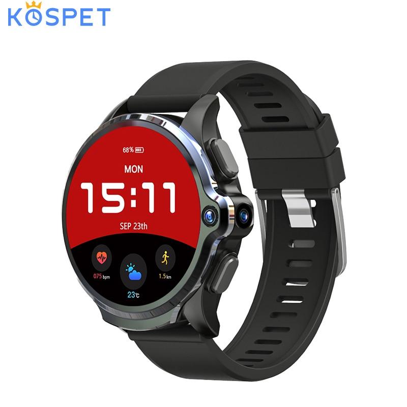 KOSPET Prime 3GB 32GB montre intelligente hommes 1260mAh 4G Android smartwatch caméra fréquence cardiaque visage ID 1.6