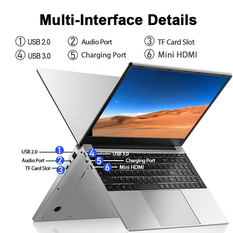 15.6 inch Laptop in stock i5 wholesale Core i5  8GB Ram 1TB SSD notebook win10 system of business laptop computer