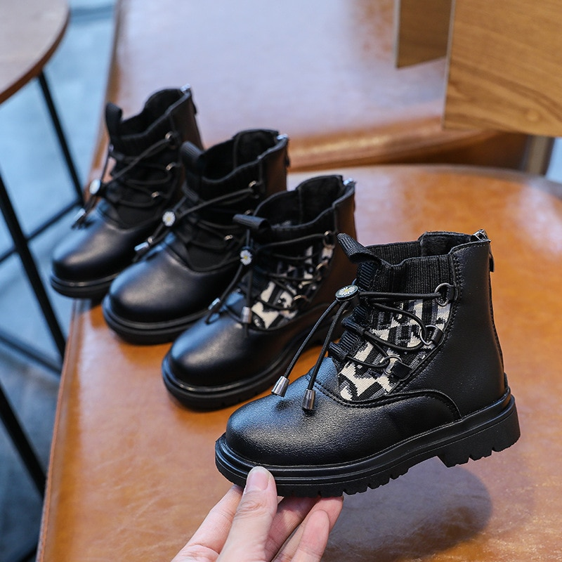 2021 Autumn New Soft-soled Martin Boots Fashion Children's Boots Comfortable Casual Shoes Wear-resistant Non-slip Fashion Boots