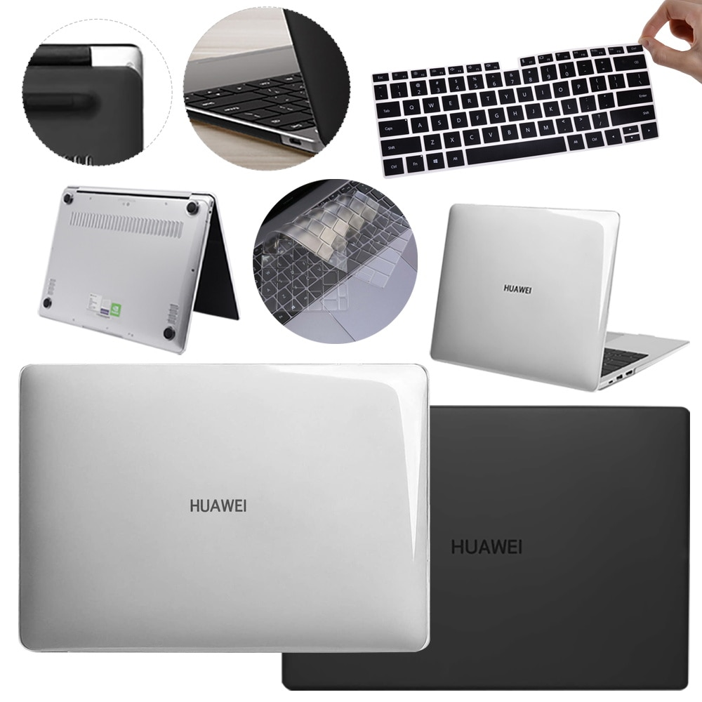 Clear/Matte Laptop Case for Huawei Matebook D14 D15 13 14 X 2020 Shell Cover for Magicbook Honor 14 15 16.1 with Keyboard Cover