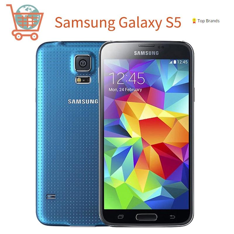 SAMSUNG Galaxy S5 I9600 Refurbished Mobile Phone Unlocked 3G&4G 16MP Camera GPS WIFI Android Smartphone Original