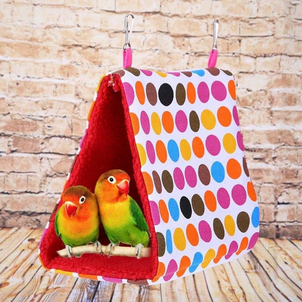 Tienda Para Pájaros de peluche de felpa caliente cabaña de moda cama...