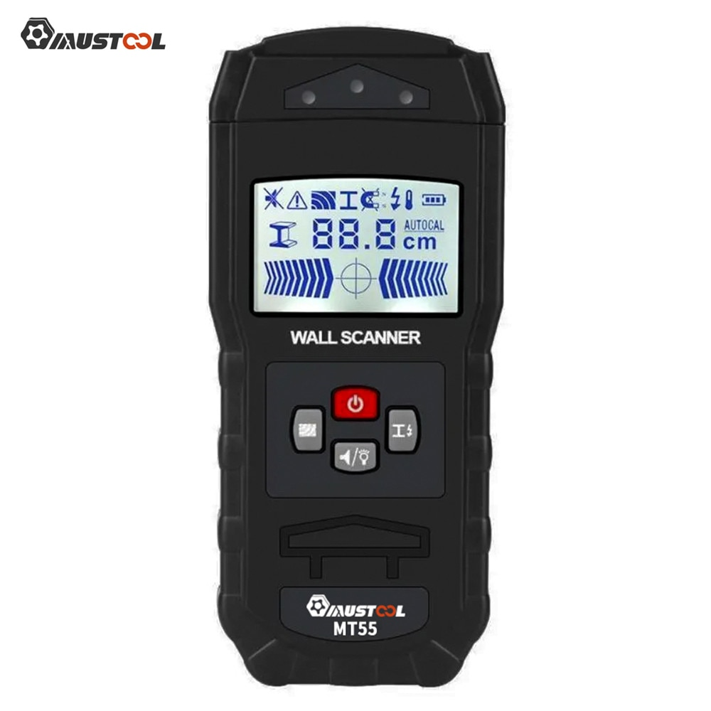 MUSTOOL MT55 escáner Digital de pared Detector de detección de Cable vivo tuberías de agua Metal instrumentos electrónicos de medición nuevo