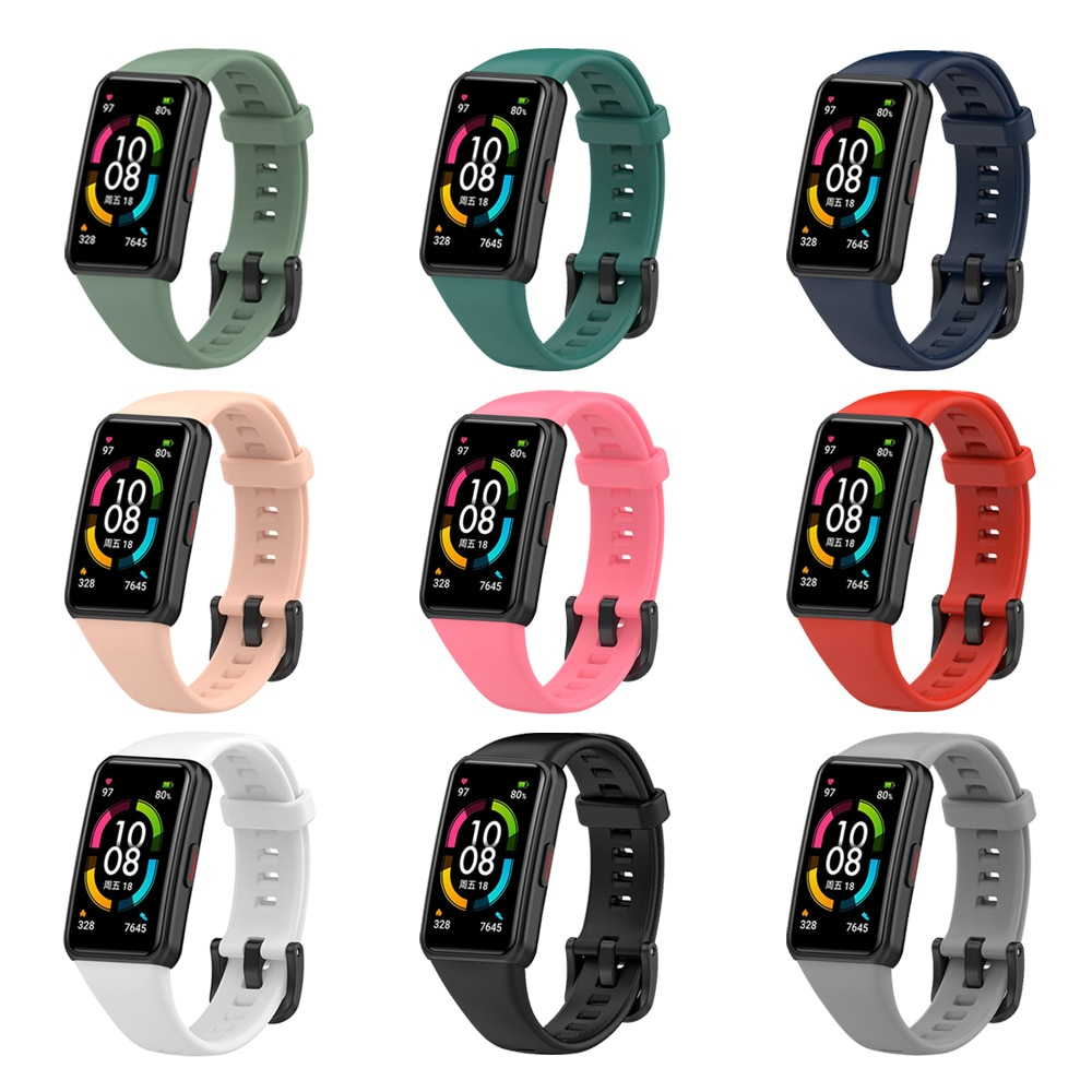 Silicone Strap for Huawei Honor Band 6 Smart Watch Sport Watchband Wrist Band Bracelet For Honor Band6 Huawei Band 6 Strap new replacement sport silicone for huawei band 6 watch band wrist strap adjustable watchband for huawei honor band 6 smart watch
