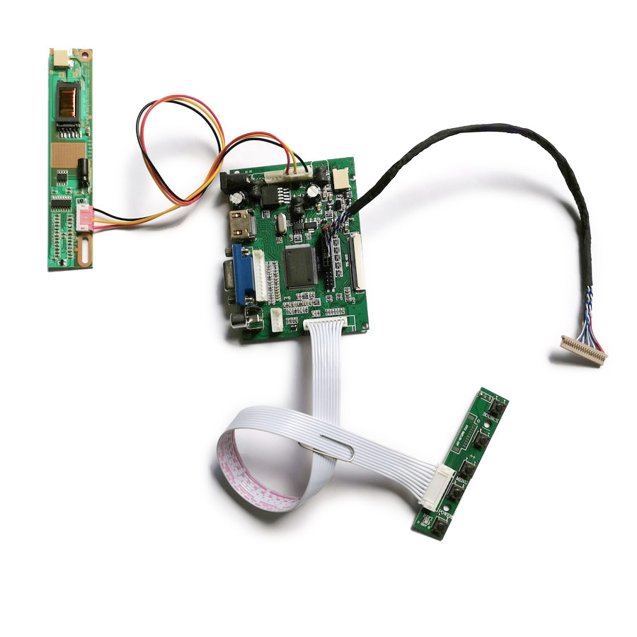 1024*768 مصفوفة LVDS 20 دبوس شاشة الكريستال السائل VGA + 2AV 1-CCFL تحكم محرك المجلس لتقوم بها بنفسك عدة تناسب CLAA141XC01/CLAA141XF01