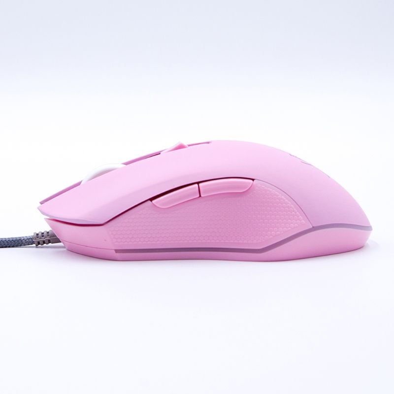 Gaming Mouse Silent Click 7 Colors LED Light Optical Game Mice Ergonomic USB Wired with 3200 DPI and 6 Buttons for PC Computer