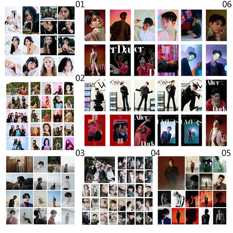 Póster adhesivo de tarjeta Lomo de Kpop GOT7,(G)I-DLE,APINK,EXO SUHO, póster de calidad HD para regalo para seguidores de la sesión fotográfica