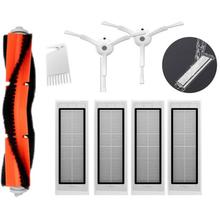 4*HEPA Filter + 2*Side Brush + 1*Main Brush for Xiaomi MI Robot Vacuum 2 Roborock S50 Robot Vacuum Cleaner Parts Accessories