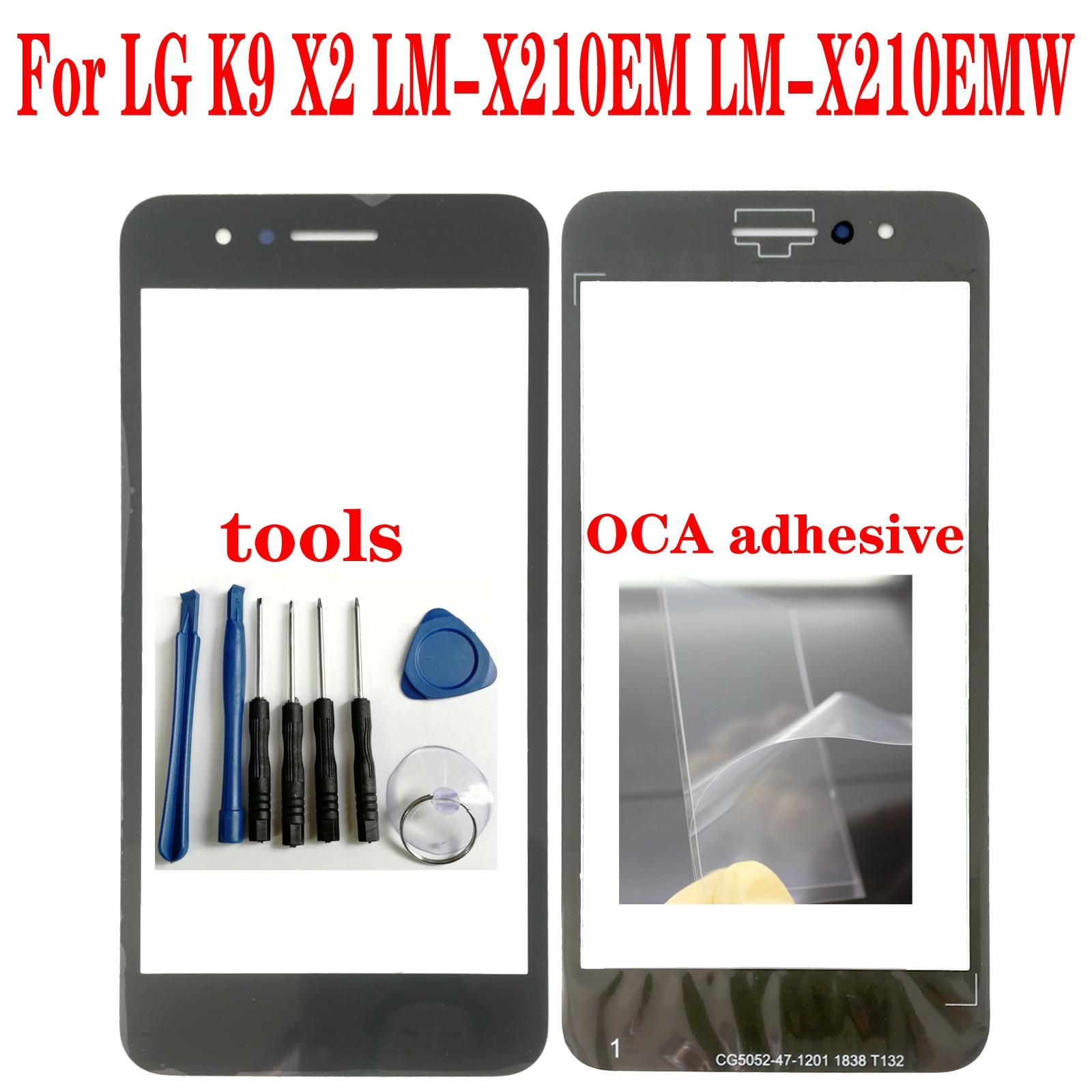 Shyueda para LG K9 X2 LM-X210EM LM-X210EMW pantalla frontal exterior de vidrio piezas de repuesto