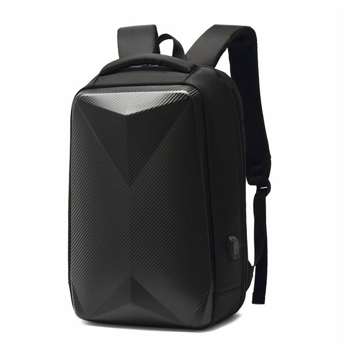 Men Backpack Business Travel Shoulder Bag EVA Anti-theft Waterproof Student Schoolbag USB Charging Laptop Bag with Password Lock
