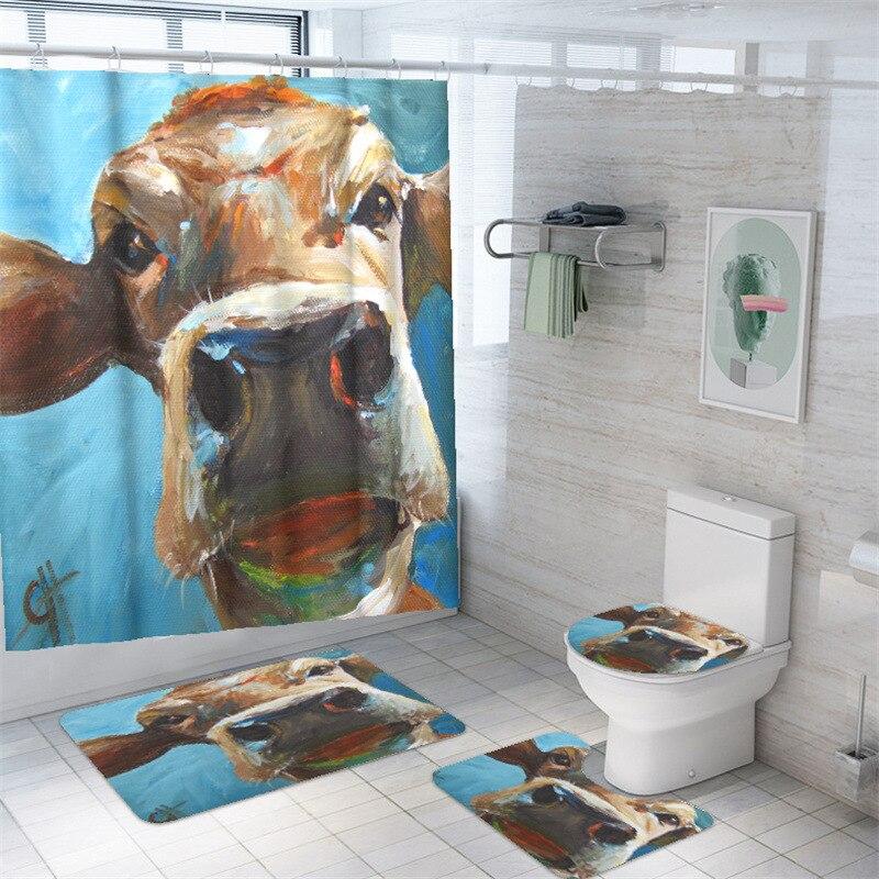 Cortina moderna De baño con tapa De inodoro, Accesorio Moderno para Dormitorio,...