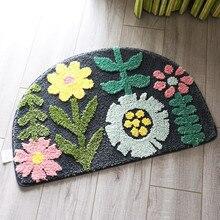 Tapis de porte en demi-cercle   Tapis de porte dintérieur, anti-saleté, paillasson antidérapant pour portes dentrée, fleurs de porte, tapis de sol, tapis dentrée