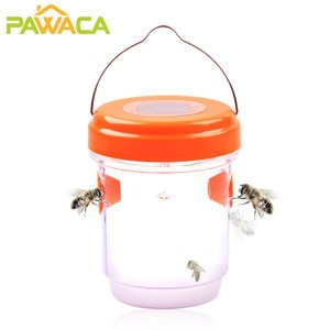 1PC Solar Powered Bee Trap Wasp Trap Fly Flies Insect Bug Honey Pots Hanging Honey-Trap Catcher Killer Pest Control Tool