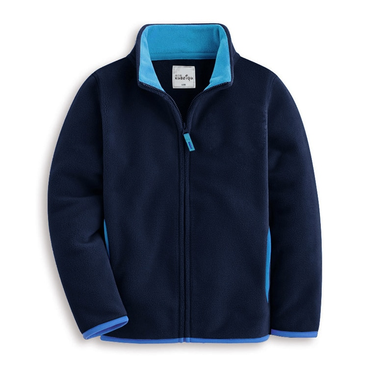 2020 autumn children's clothes solid long sleeve fleece thin zipper cardigan boys jackets for boys girls kids outerwear coats