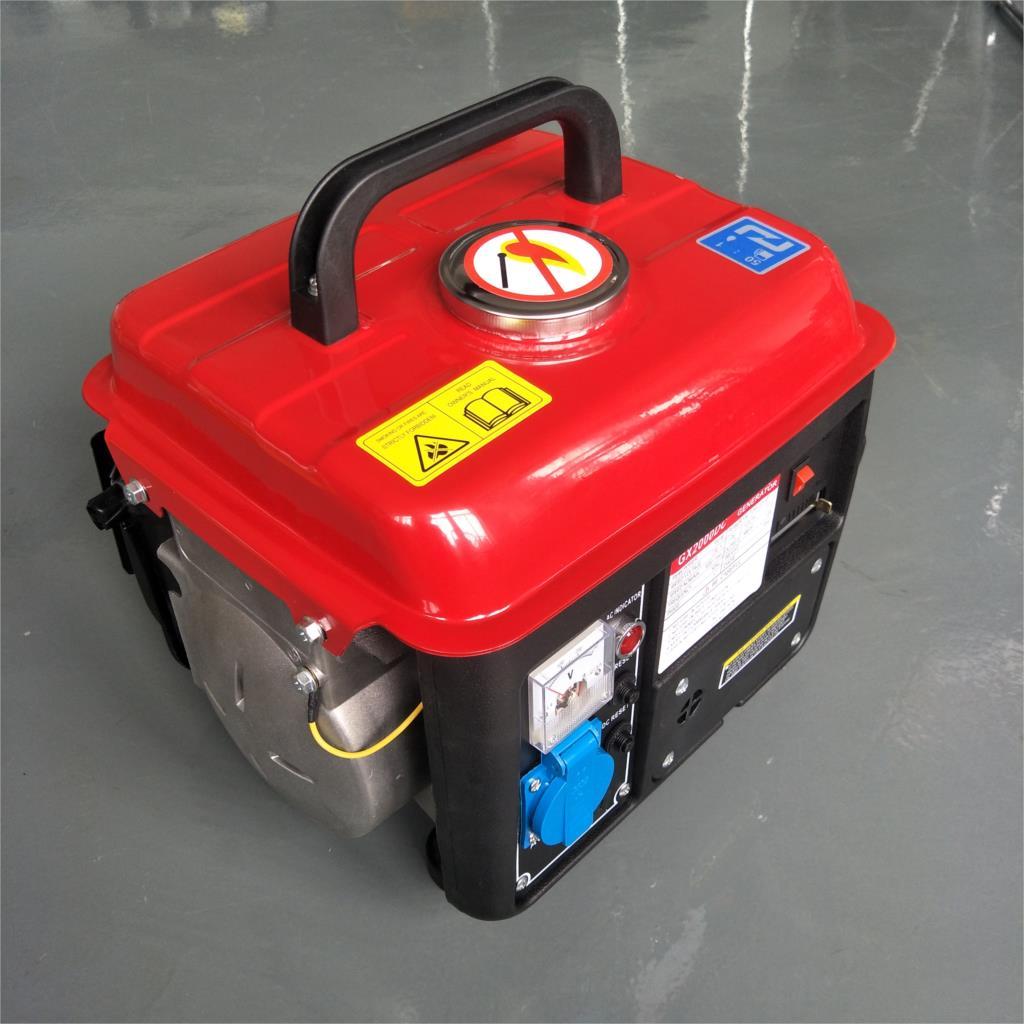 مولد بنزين للاستخدام المنزلي ، 500 واط ، 650 واط ، 220 فولت ، أحادي الطور ، ثنائي الأشواط ، صغير ، محمول ، للاستخدام في الهواء الطلق