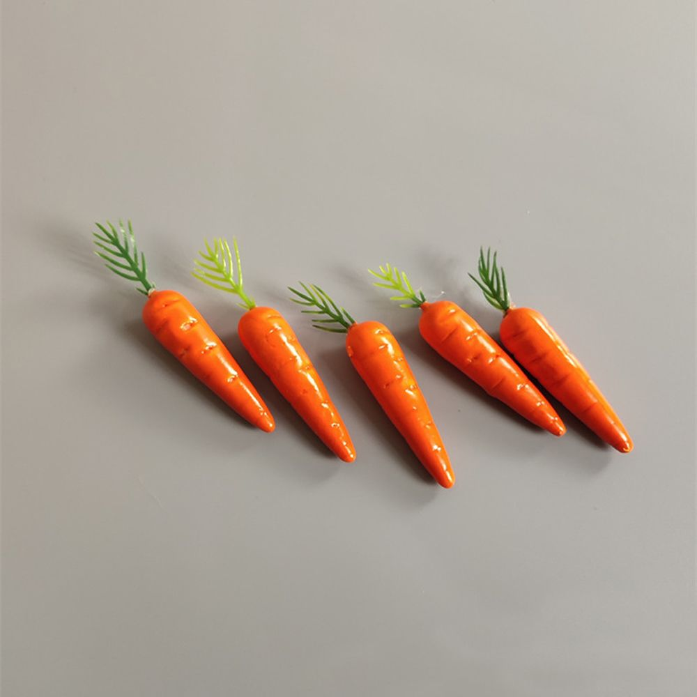 10 Uds plástico Mini simulación creativa zanahorias verduras espuma Berry zanahoria Artificial nabo falso herramientas de fiesta de boda
