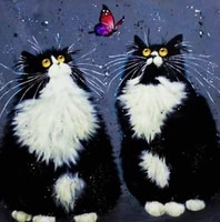two cats handmade diy oil paint paint by numbers kit on canvas wall art home decor digital painting for wedding family