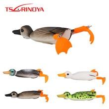 TSURINOYA NEW Duck Soft Lure 10cm 18.5g Top Water Frog Fishing Lure Splashing Feet 3D Simulation Floating Baits Quality Swimbait