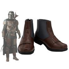 Starwars Mandalorian Cosplay bottes marron chaussures sur mesure toute taille pour hommes et femmes