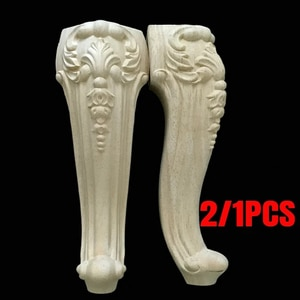2/1PCS Solid Wood Furniture Legs Feet Replacement For Sofa Couch Chair Coffe Tea Table Cabinet TV Stands 300/350/400mm