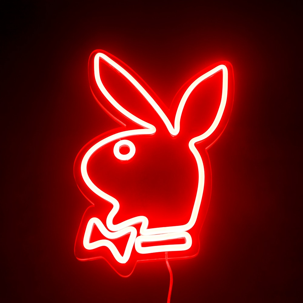 Custom Playboy Bunny LED Neon Sign Light 12V Best Set Acrylic Neon Sign Home Room Decoration Ins Party Gift For Friend