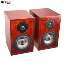 HIFIDIY LIVE Stereo hi-fi speaker 6.5in DIY all wood birch fever bookcase 2.0 passive T6 speaker