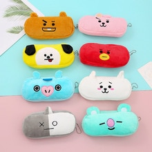 JCBTSH21Bangtan boysNew product Hallyu cartoon cute plush storage bag student stationery cosmetic pe