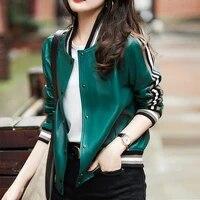 long sleeve female 2021 fashion jacket women faux leather bomber jacket coat clothes harajuku windbreaker outwear