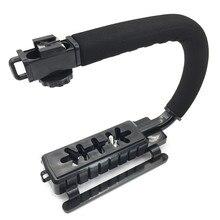 Stabilisateur tenu dans la main vidéo de poignée de support en forme de C pour lappareil-photo de Nikon Canon Sony et la lumière